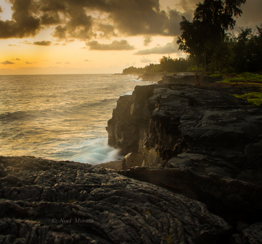 Along the Puna coastline