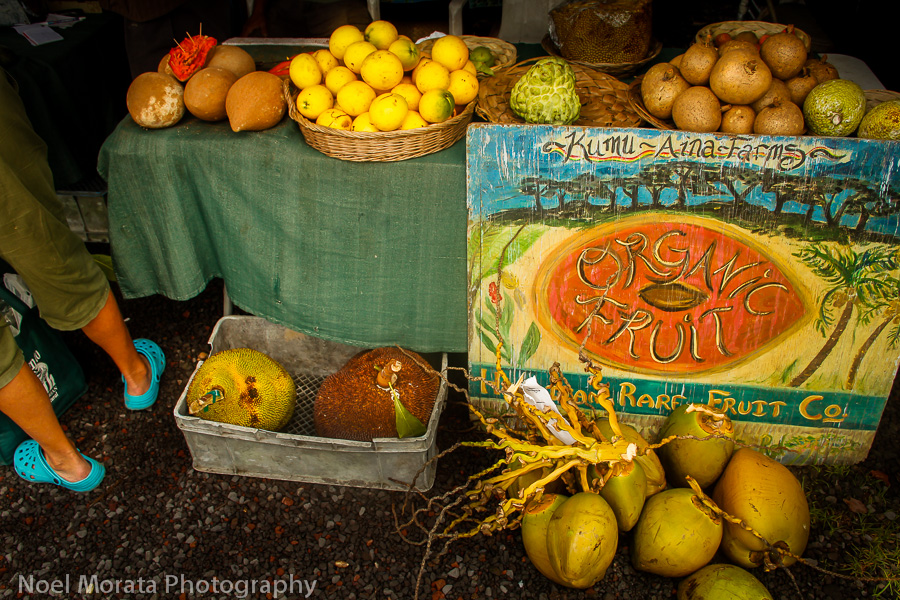 Farmers markets on Hawaii Island - fresh fruit! photo by Noel Morata