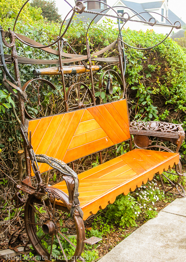 A quirky and fun garden in Mendocino