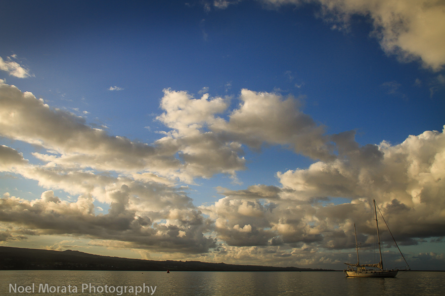 Gorgeous clouds over Hilo Bay