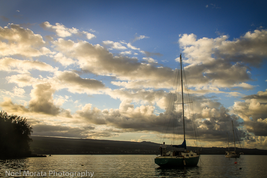Sailing around Hilo bay and Hamakua coast