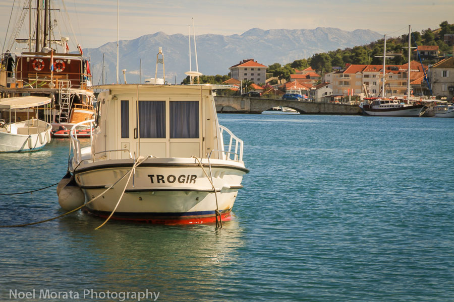 Trogir marina and mainland