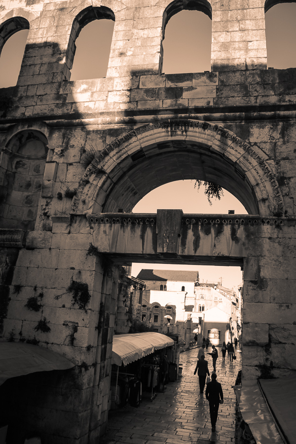 The silver gate, one of four gates into Split