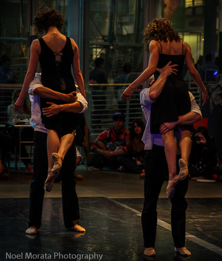 A modern dance performance at the Academy of Sciences