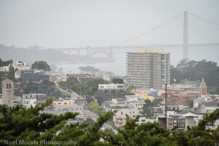 Cloudy day views to the Golden Gate bridge