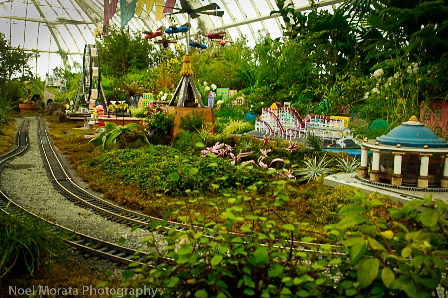 Year miniature train exhibit is an annual favorite at the Conservatory