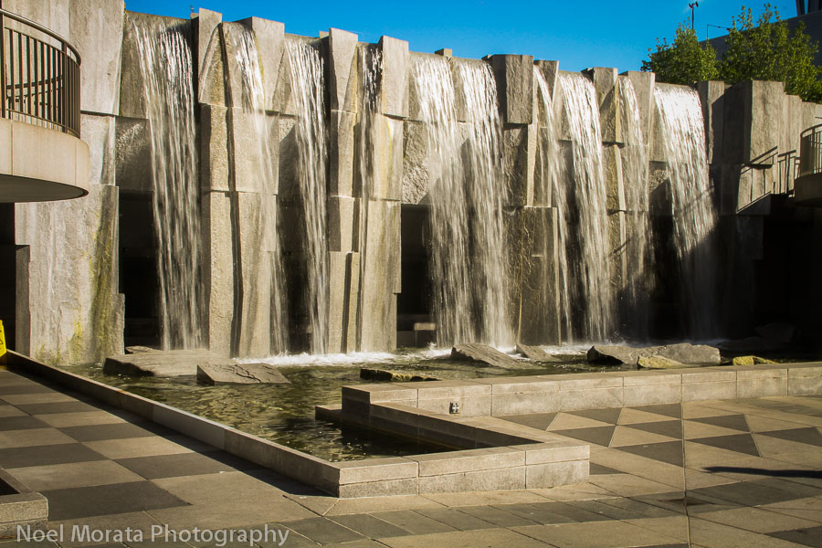 Waterfalls/sculpture dedicated to Martin Luther King