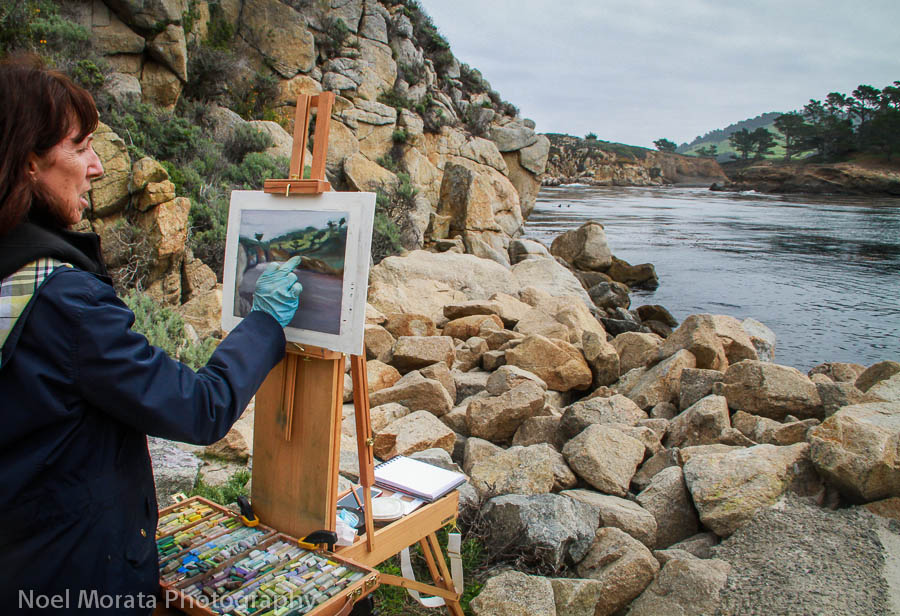 An artist captures the scenic beauty of Point Lobos
