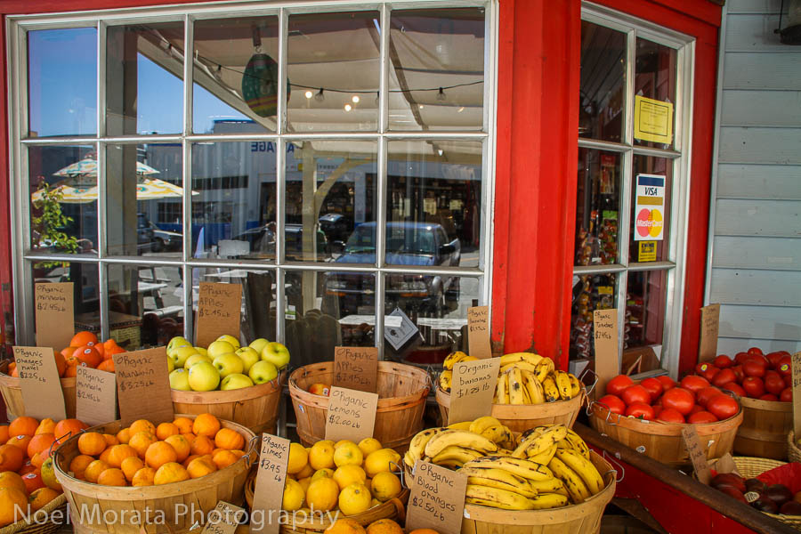Produce at Toby's Market at  Point Reyes Station