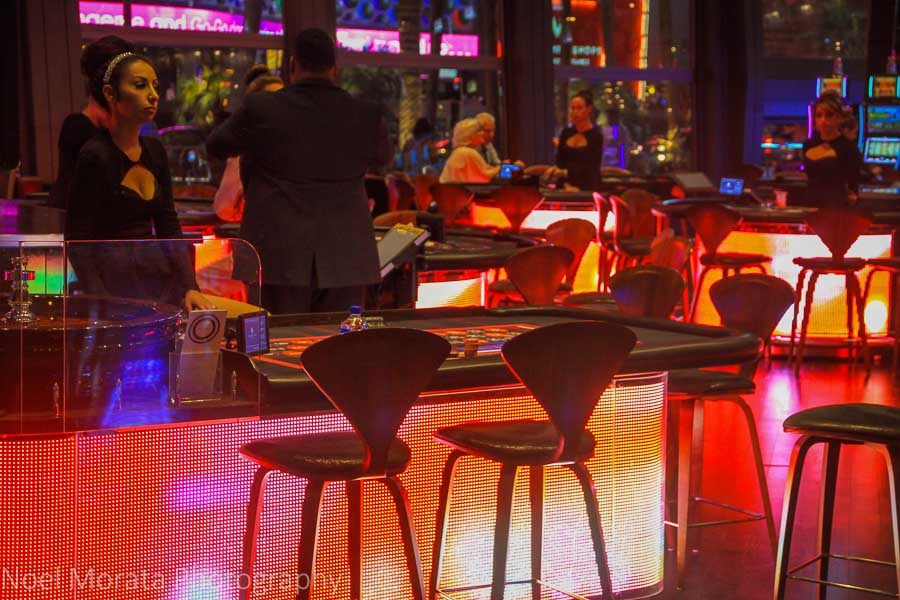 Casino tables and glitz at the Cosmopolitan