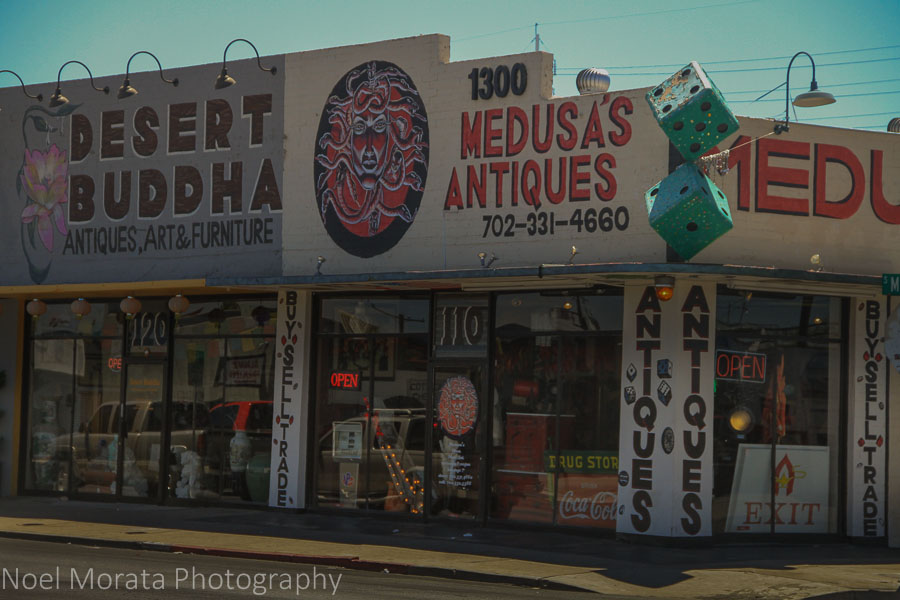 Antique district in Downtown Vegas