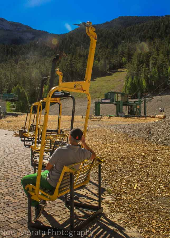 Cool gondola chair resting areas