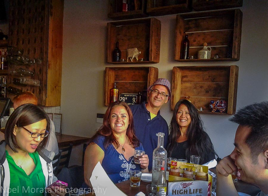 Photo op with fellow travel writers at Southpaw on Mission