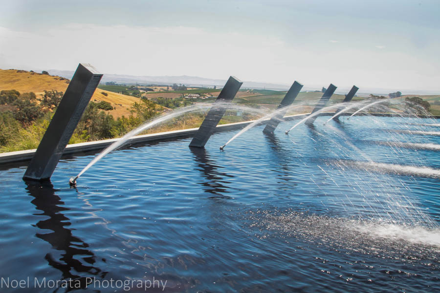 Fountains symbolize popping sparkling wines at Artesa Winery