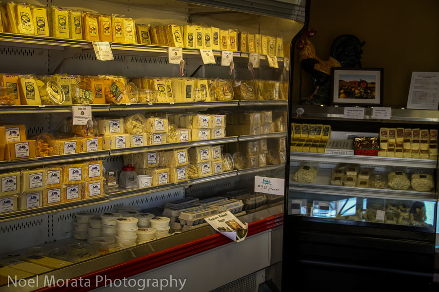 Flavored Jacks and other specialty cheeses at Petaluma Creamery