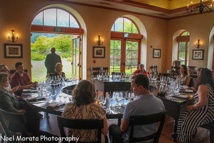 The dining pavilion at St. Francis winery