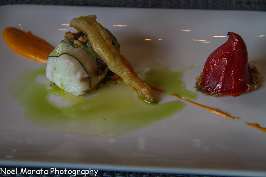 Melt in your mouth halibut with ratatouille at St. Francis winery