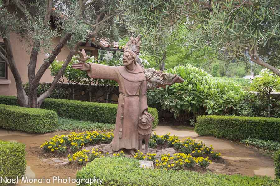 St. Francis statue at the winery entry