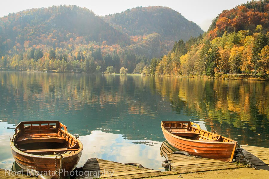 Rent a row boat at Lake Bled