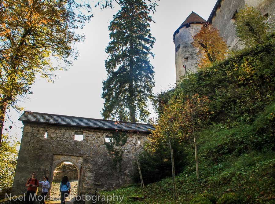 The Bled castle entrance appears