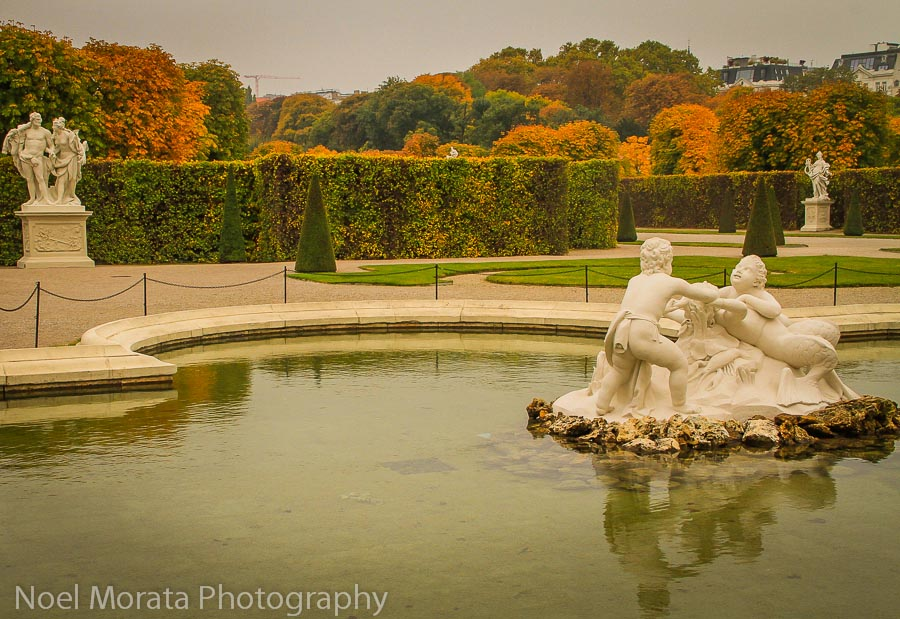 Beautiful sculpture and gardens at The Belevedere palace
