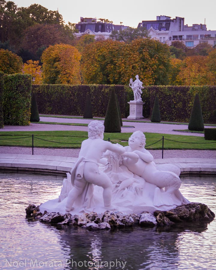 Animated sculpture of Children at the Belvedere gardens in Vienna