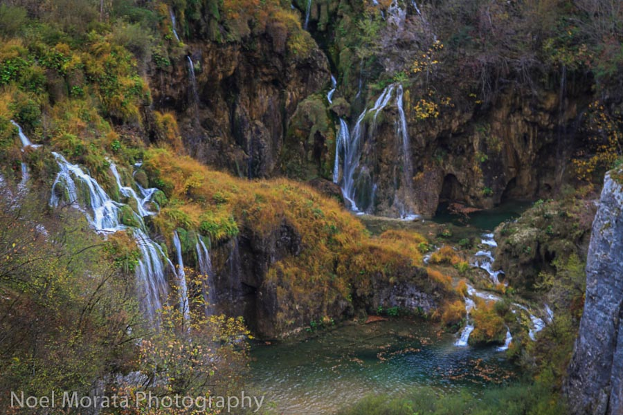 Waterfall vignette at Plitvice