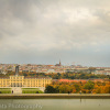 Panoramic view of Schonbrunn Palace, Vienna