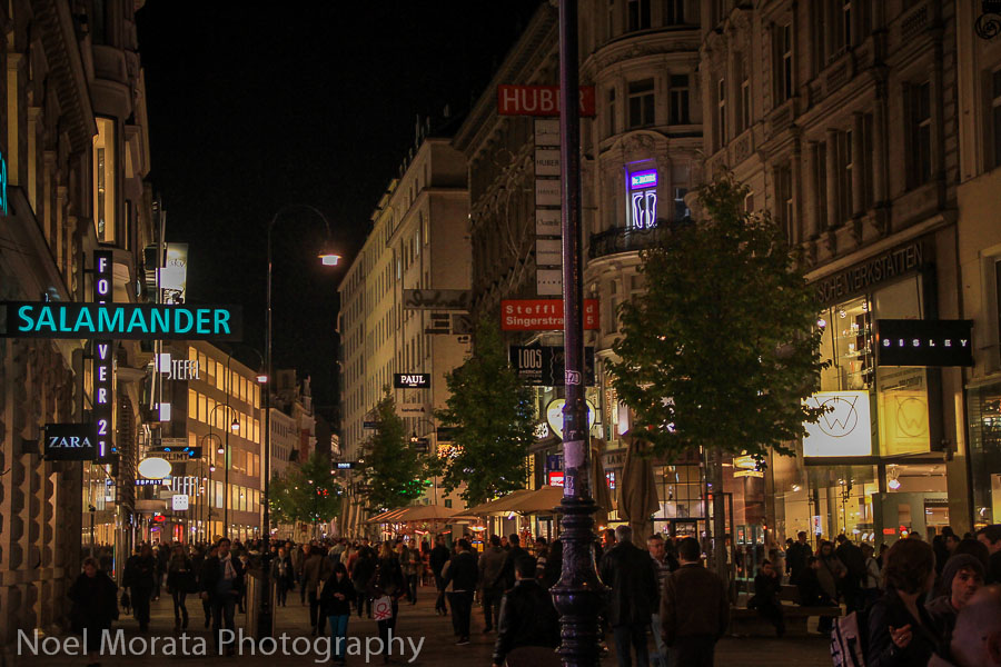 Main pedestrian zone around the Cathedral of Vienna