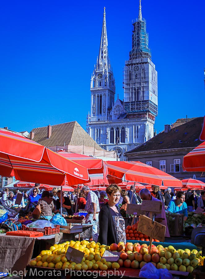 Dolac market in lower town, Zagreb