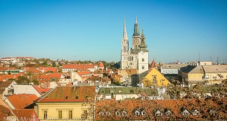 Views of the historic center in Zagreb, Croatia