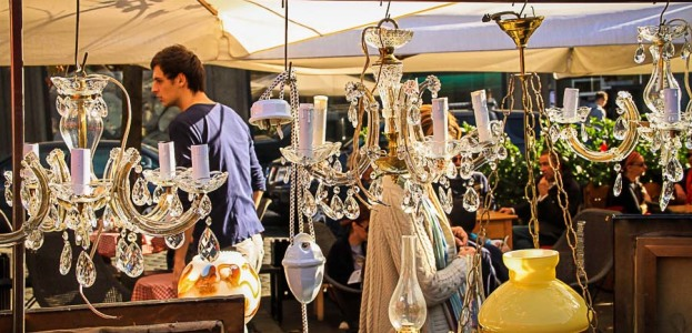 The antique market on British Square, Zagreb