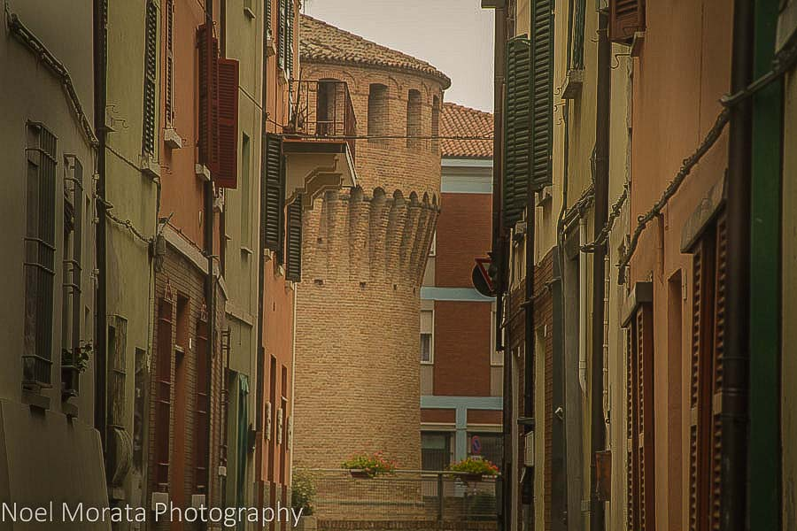 The town and castle at Riolo Terme