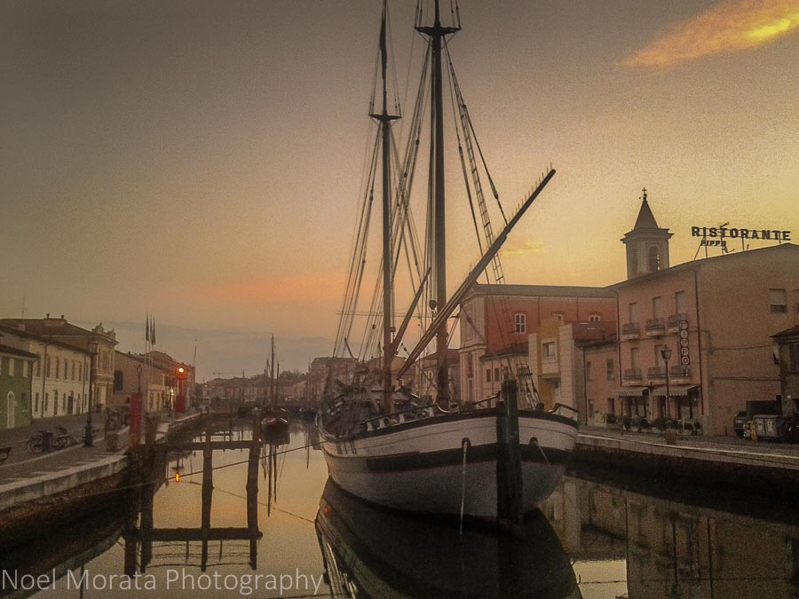The main canal in Cesenatico, Italy