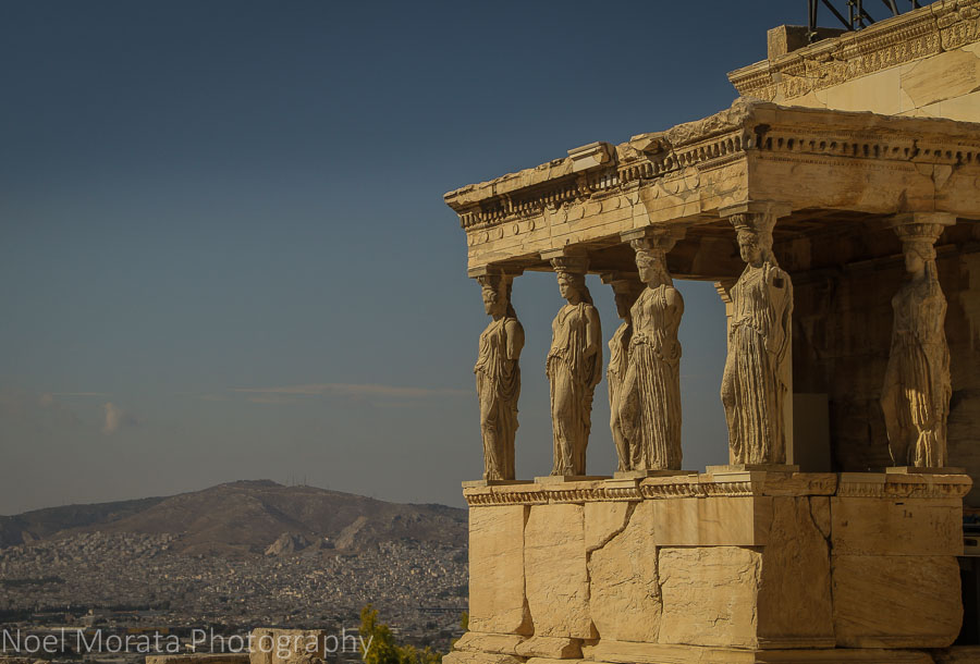 The Erechteion with the graceful Caryatids at the Acropolis