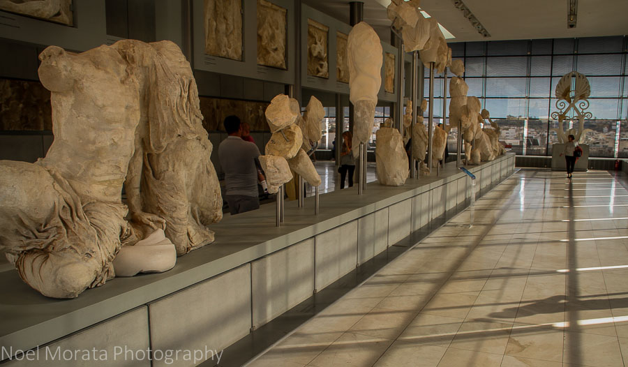 Interior views from the Acropolis Museum in Athens