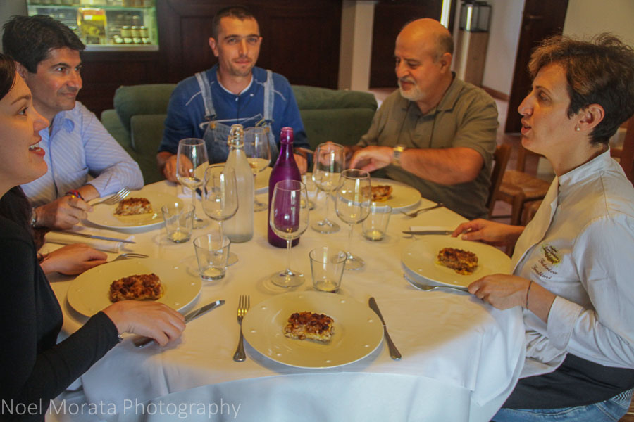 Gathering for a meal at Podere San Giuliano