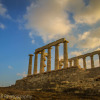Entering the grounds of the temple of Poseidon