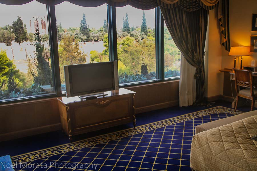 Bedroom suite at the Royal OLympic Hotel