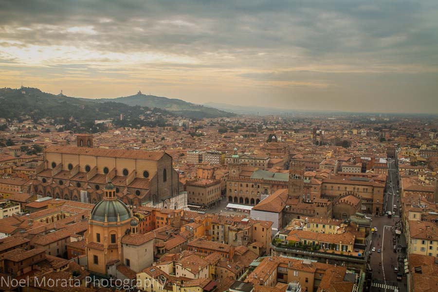 Bologna-panorama from the two towers
