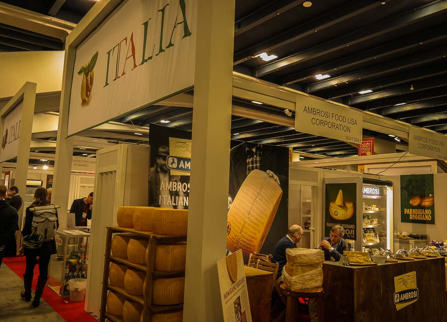 The Italian section at the Fancy Food Show
