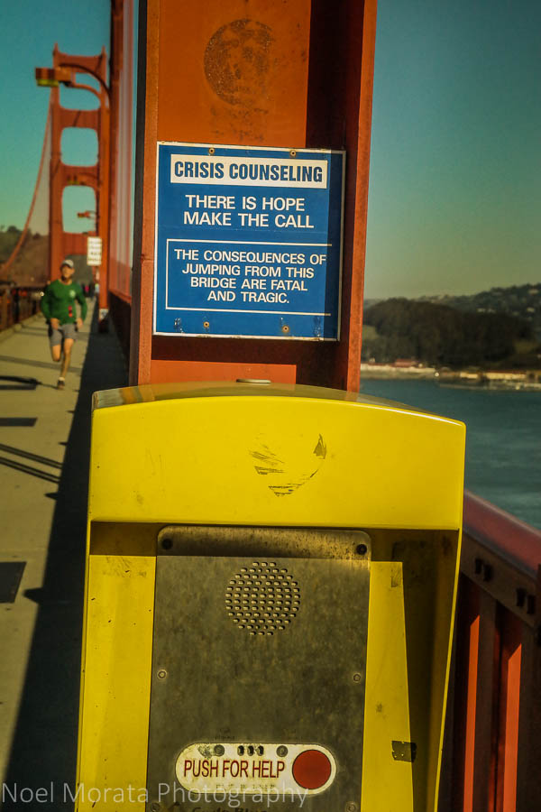 Emergency box at the Golden Gate Bridge