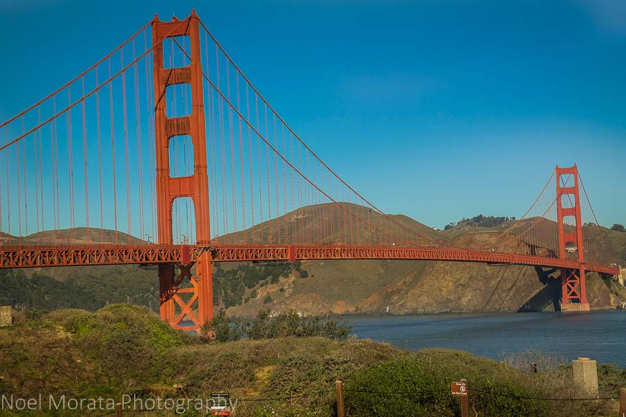 Morning view of the Golden Gate Bridge
