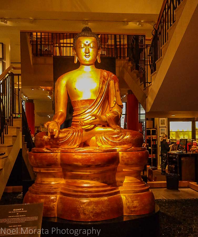 Giant Buddha at Gumps in San Francisco