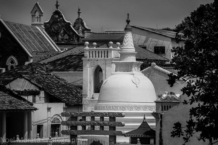The many  religious architecture at Galle