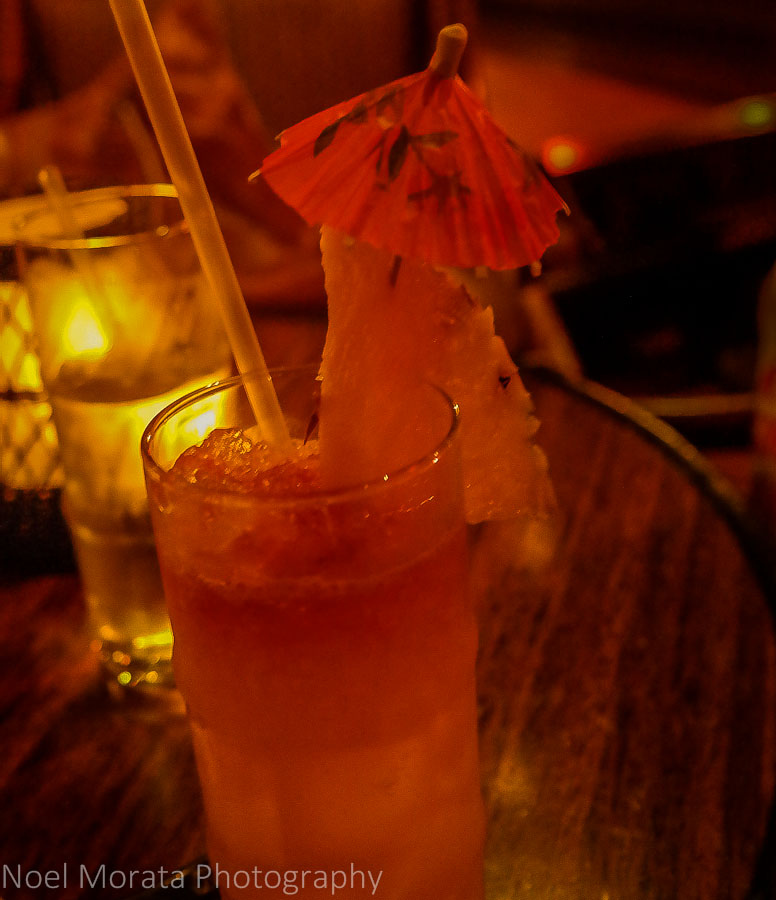 Tropical drinks at the Tonga room