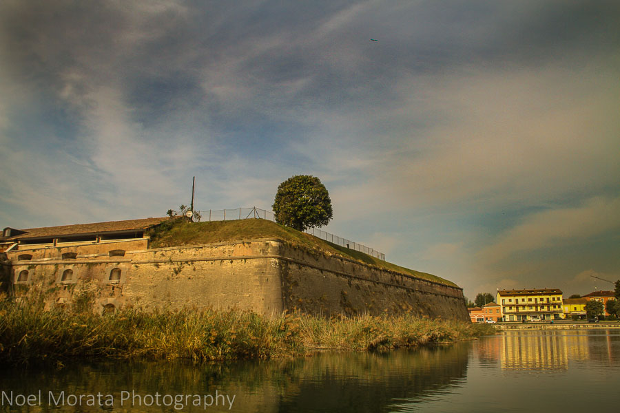 The fortress and ramparts at Lake Garda in Peschiera
