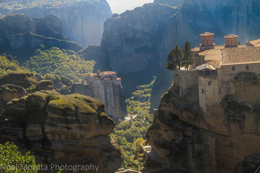 Monasteries from different vantage points in Meteora