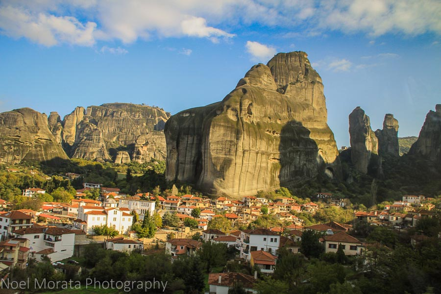Panoramic view of Kastraki Village in Meteora