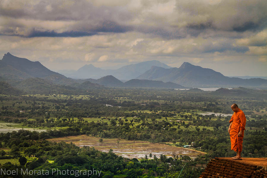 On top of the ruined palace of Sigiriya, Sri Lanka